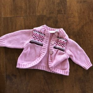 Baby girl ping sweater winter spring fall